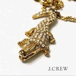 J. Crew alligator cry6 necklace